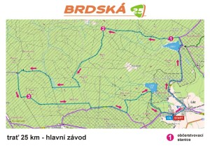 Brdská 25 - trať 25 km-1